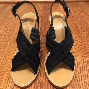 J. Crew black sandals
